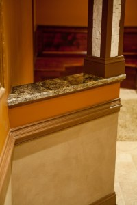 Granite Cap for Knee Wall - Traditional - Kitchen ...