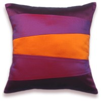Decorative Pillow Case 16 in SIENNA in Orange Purple And