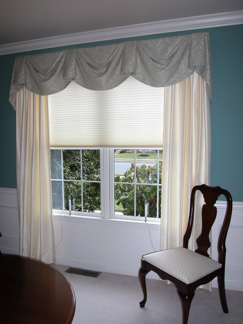 Elegant Dining Room  Window Treatments  philadelphia  by Blinds  Designs