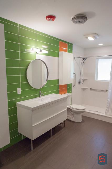 Mid Century Modern Remodel Midcentury Bathroom Dallas By Sardone Construction