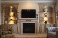 Bookcases and Fireplace Mantels - Traditional - Living ...