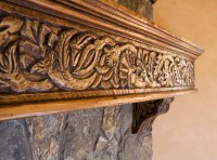 Custom Wood Carving - Mediterranean - Fireplace Mantels ...