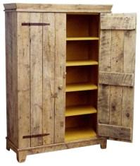 Rustic Barnwood Kitchen Cabinet - Rustic - Storage ...