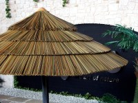 Thatch Umbrella - Synthetic - Tropical - Outdoor Umbrellas ...