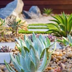 Nice Artwork Living Room Design Ideas On A Budget Modern Zen Garden Desert Succulent Planting - Contemporary ...