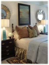 Where did the round mirrors over the nightstands come from ...