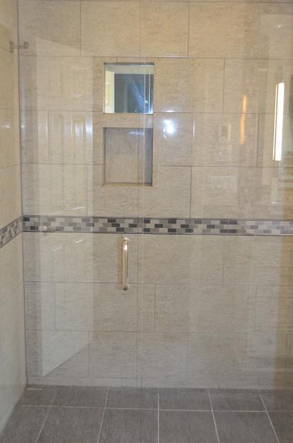 ZeroEntry Shower Blue Ash OH  Contemporary  Bathroom