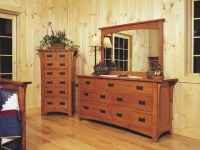 Mission-style Oak Bedroom Furniture - Craftsman - Bedroom ...