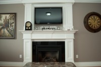 Decorative Moldings Around Fireplace