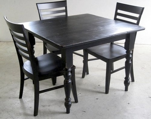 Black Mission Style Dining Chair  Farmhouse  Dining Chairs  boston  by ECustomFinishes