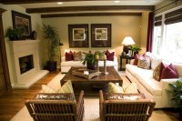 Classic and Relaxed Beach Condo - Tropical - Living Room ...