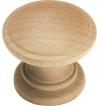 Natural Woodcraft Unfinished Wood Cabinet Knob ...