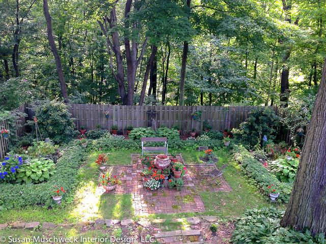 Backyard English Garden Ideas Photograph Backyard English