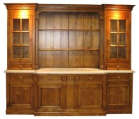 Large 6-Section Sideboard & Hutch w 7 Drawers & 3 Cabinets ...