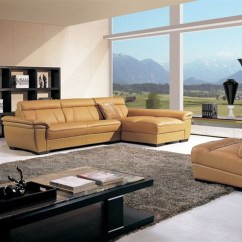 White Bonded Leather Sectional Sofa Set With Light Moroccan Base High End Curved In - Contemporary ...