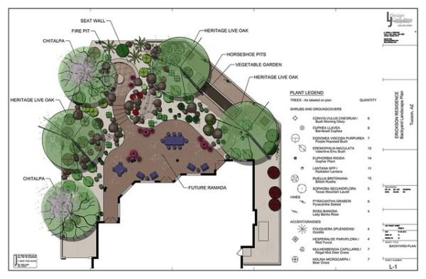 residential landscape design drawings