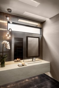 Minimalist Mountainside - Contemporary - Powder Room ...