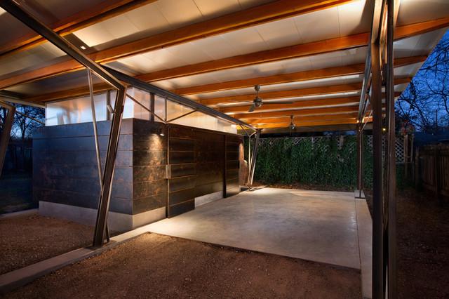 Hyde Park Carport Pavilion Modern Exterior Austin