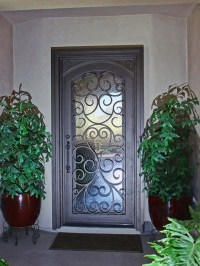 Custom Scroll Iron Entry Door by First Impression Security