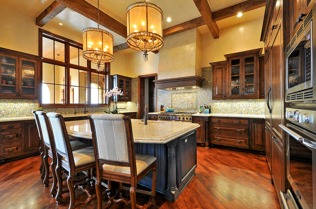 Spanish Oaks Residence Rustic Kitchen Austin By