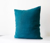 Teal blue pillow cover