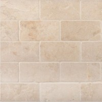 "Crema Marfil Tumbled and Honed 3x6"" Subway Tile - atlanta ..."