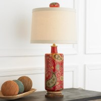 Red Paisley Table Lamp - Lamp Shades - by Shades of Light