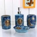 And moon pattern blue ceramic bath accessory sets modern bathroom