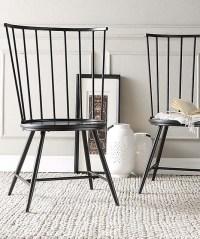 Black Warren High-Back Windsor Chair - Set of Two - Modern ...
