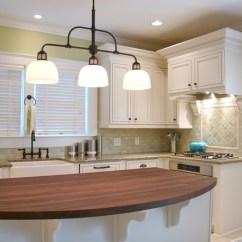 3 Light Kitchen Island Pendant Cast Iron Sink Va Highland Bungalow Remodel - Traditional ...