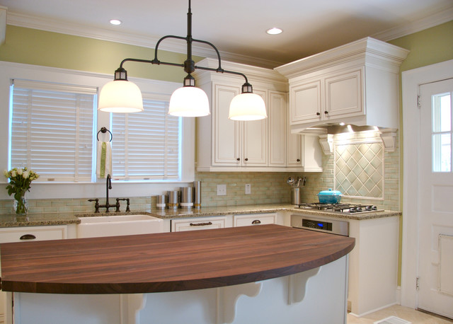 3 light kitchen island pendant runners rugs va highland bungalow remodel - traditional ...