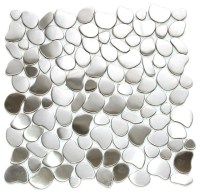 River Rock Mosaic Stainless Steel Tile, Sheet ...