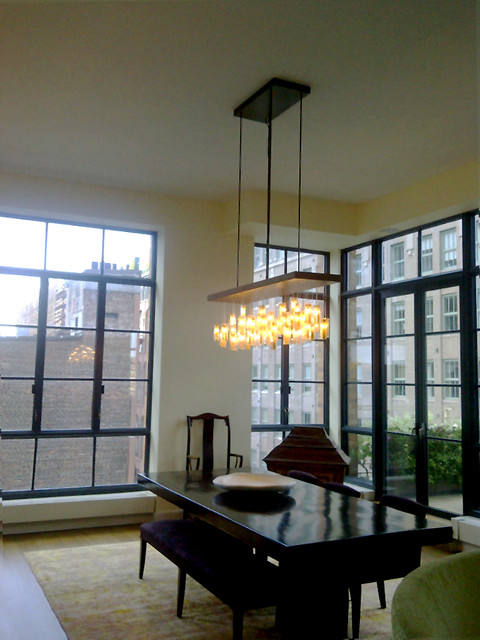 Drop Chandelier Asian Dining Room New York By Shak 250 Ff