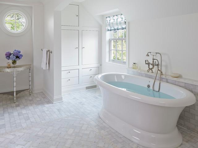 English Manor Renovation Traditional Bathroom