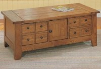 Broyhill - Attic Heirlooms Rustic Oak Apothecary Coffee ...
