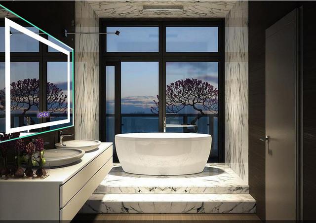Hotel bathroom mirror with light  Modern  Bathroom