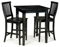 3-Pc Square Bistro Table Set - Contemporary - Indoor Pub ...