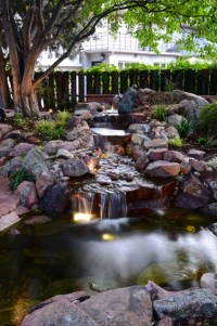 Park Hill Backyard Water Feature - Traditional - Landscape ...