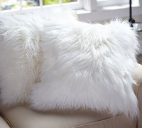 Faux Fur Pillow Cover, Long Shaggy - Contemporary ...