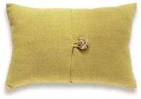 Hand Dyed Mustard Yellow Linen Lumbar Pillow Cover 12 x 18 ...