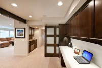 Somerset Basement Sliding track door contemporary-home-office