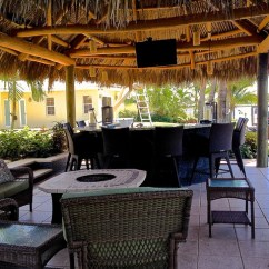 Bamboo Folding Chair Cover Hire Cambridgeshire Tiki Hut, Outdoor Kitchen And Landscaping - Tropical Miami By ...