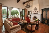 Spanish Colonial Remodel - Mediterranean - Living Room ...