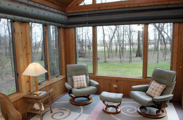 burnt orange living room accessories small paint colors ideas sunroom - contemporary porch chicago by beyond ...