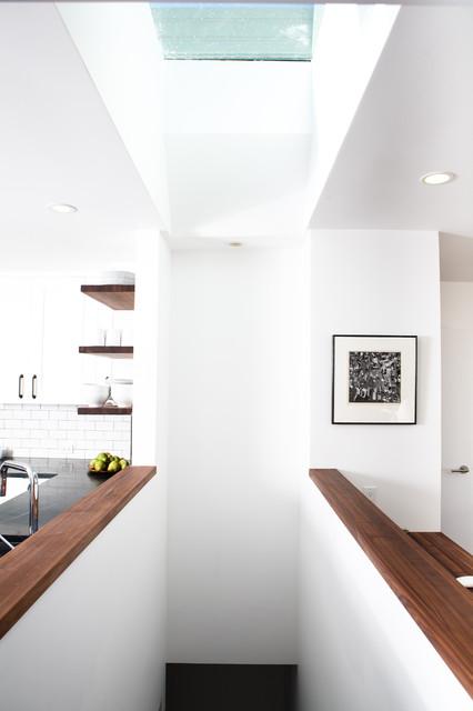 Noe Valley Rustic Industrial Modern  Midcentury  Staircase  san francisco  by Regan Baker Design