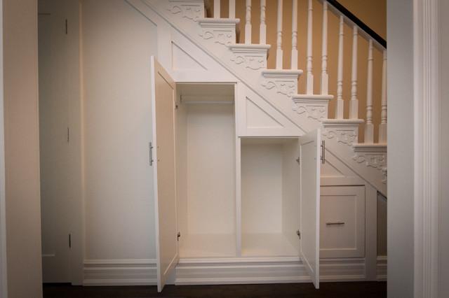 Toronto Cabbagetown Hallway Under Stairs Custom Closet