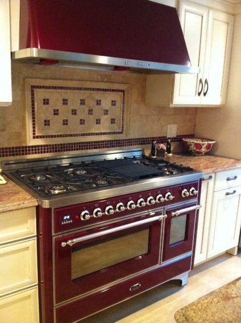 burgundy kitchen rugs corner shelving unit haber - mediterranean new york by ...