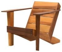 Modern Clear Cedar Deck Chair - Contemporary - Adirondack ...