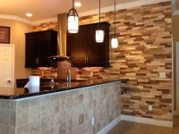 Kitchen Remodel Wood Accent Wall - Contemporary - Kitchen ...