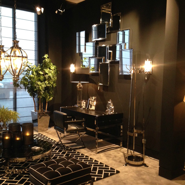 living room decorating with black furniture how to decorate walls pictures eichholtz inspiration - modern other metro by ...
